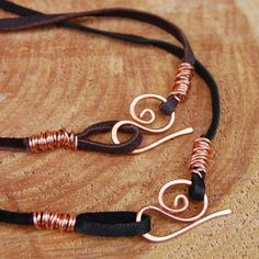 Copper Deerskin Leather Cord 16 inches by Karismabykarajewelry, $12.00