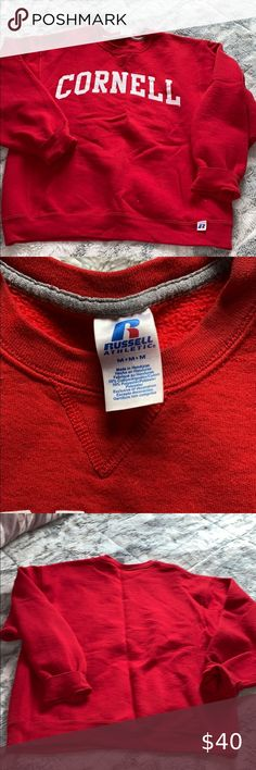 VTG 70S Russell Athletic gold tag blank 100/% cotton t shirt made in usa deadstoc