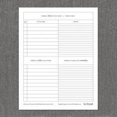 Free Things I Have To Do Today Printable