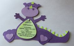 12 Dragon or dinosaur  invitations...