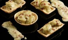 Receta de Tartaletas de alcachofas con velouté de jamón