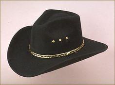 BLACK Pinch Front Faux Felt old west cowboy western hat