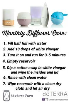 How to clean your diffuser. Cleaning your Doterra diffuser. Haven't got a diffuser or oils yet? Get your own diffuser and essential oils here Essential Oil Diffuser Blends, Doterra Essential Oils, Natural Essential Oils, Doterra Diffuser, Essential Oils Cleaning, Helichrysum Essential Oil Uses, Doterra Blends, Aromatherapy Oils, Aromatherapy Recipes