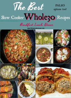 slow cooker crockpot whole30 paleo - Whole30 is more than just a diet, it's a lifestyle. Here are hundreds of of my favorite whole30 slow cooker recipes from my blog. More than enough to complete an entire round of whole30 without having to repeat a meal.