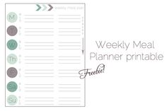 Freebie: Meal Planning Printable