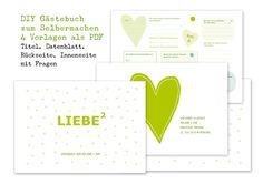 DIY+Gästebuch+Hochzeit+mit+4+PDF+Vorlagen+von+OOH+HAPPY+DAY+auf+DaWanda.com