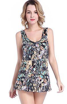 e638ae132f078 2017 One Piece Swimsuit Dress Print Plus Size Swimwear Large Size Women  Bodysuit Monokini Summer Bathing Suit Swim Suit Women