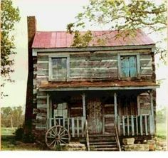 This is a log house, not a cabin.  Look at the logs, they are planked, not rounded.  That is why this is a house, not a cabin.