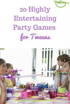 Got a tween birthday party coming up and in need of some ideas for party games for tweens? When you go past the Pin the Tail on the Donkey and Pass the Parcel stage you need games that will keep the 8-12 year olds engaged and interested. So here are 20 Highly Entertaining Party Games for Tweens: