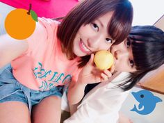 Anchan and suwawa took a picture together after photoshoot for Young Jump Magazine