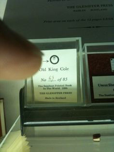 Library of Congress - smallest printed book in the world - it's in that little circle.
