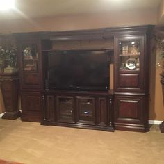 1 of 1 : Hooker Furniture Wall Unit Entertainment Center - Outstanding Quality and Condition
