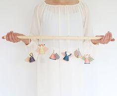 Fridur paper mini angels | easy pop out | tree decoration