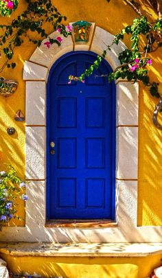 Asos doors ~ Cephalonia, Greece………IF IT'S BLUE, IT HAS TO BE GREEK………..ccp