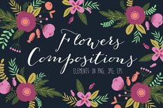 Graphic Design - Graphic Design Ideas  - Check out Flowers compositions by lokko studio on Creative Market   Graphic Design Ideas :     – Picture :     – Description  Check out Flowers compositions by lokko studio on Creative Market  -Read More –