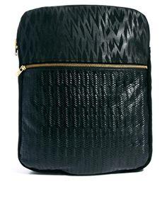 J & P Black Suede & Leather Backpack