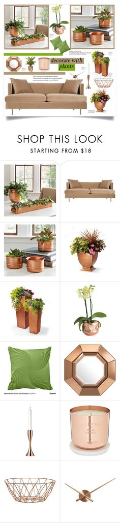 """""""Grow a Little:Planters"""" by southindianmakeup1990 ❤ liked on Polyvore featuring interior, interiors, interior design, home, home decor, interior decorating, Ballard Designs, Grandin Road, Eichholtz and Stelton"""