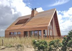 North Sea Wood House is framed in Siberian larch and clad in western red cedar. It's located on the Island of Terschelling, hidden in the dunes and overlooking the North...