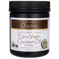 Swanson Certified Organic Flavor Free Coconut Oil 16 oz lb) g) Solid Oil Coconut Oil Moisturizer, Coconut Oil Lotion, Natural Coconut Oil, Coconut Oil For Acne, Cooking With Coconut Oil, Extra Virgin Coconut Oil, Coconut Oil Uses, Benefits Of Coconut Oil, Organic Coconut Oil