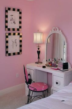 I want a pink room. For jess princess room