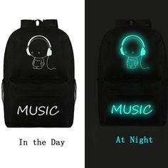Canvas Backpack Galaxy Luminous Cartoon Printing Backpack Girl & Boy School Bags for Teenagers Travel Bag Mochila Escolar XA163C