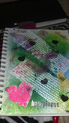 Dylusions spray and acrylic paint!