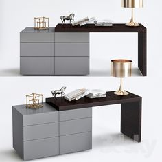 models: Sideboard & Chest of drawer - Valeo como con scrittoio Bedroom Bed Design, Home Room Design, Modern Bedroom Design, Home Interior Design, Living Room Designs, Bedroom Decor, Dressing Table Modern, Dressing Table Design, Transforming Furniture