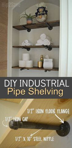 Channel Your Inner Joanna Gaines! Easy DIY Industrial Pipe Shelving – Hip2Save