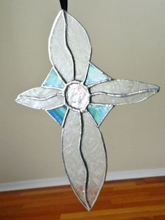 Stained Glass Cross Suncatcher by uniquenique on Etsy, $30.00 #onfireteam #lacwe #teamfest #tbec #cross #suncatcher