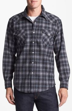 Pendleton Canyon Fitted Plaid Flannel Shirt