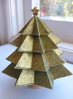 Christmas tree paper craft