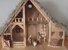 Nativity Creche 6 Right side Christmas Crib Ideas, Diy Christmas Village, Christmas Manger, Christmas Nativity Scene, Christmas Diy, Nativity Stable, Nativity Creche, Nativity Scenes, Diy Arts And Crafts
