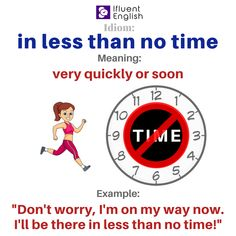 Idiom: in less than no time