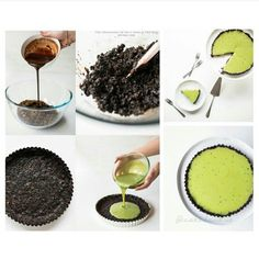 MATCHA-OREO NO BAKE TART BAHAN UNTUK TART : 18 buah biskuit oreo (buang krimnya dan hancurkan) 90 gram mentega (lelehkan) 55 gram cokelat masak pekat (lelehkan) 1 buah loyang pai jenis springform (yang bawahnya bisa dibuka) UNTUK FILLING : 250 gram cokelat putih masak (potong kasar menjadi kecil-kecil) 250 ml krim kental 10 gram bubuk matcha green tea ========== CARA MEMBUAT UNTUK TART : 1. Campur Oreo yang sudah dihancurkan dengan mentega cair dan cokelat leleh 2. Tuang campuran ke dalam…