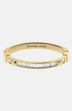 Michael Kors 'Brilliance - Astor' Baguette Hinged Bangle (Save Now through 12/9) available at #Nordstrom