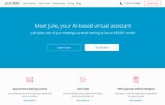 Julie Desk, the French startup that's developed a 'virtual assistant' to automate the email back-and-forth typically associated with scheduling meetings..