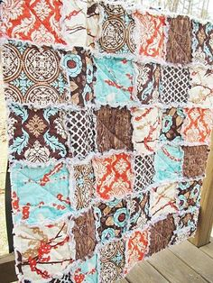Rag quilt.  Love the colors on this one!