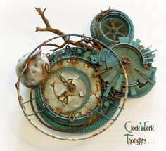 Organic steampunk, I love it.  Clockwork Thoughts by ~ariscene on deviantART