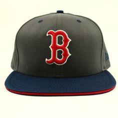 various colors 22b26 e18b1 Boston Red Sox Unisex Gray Navy Hat New Era Baseball Cap MLB Size 7 5 8  Fitted