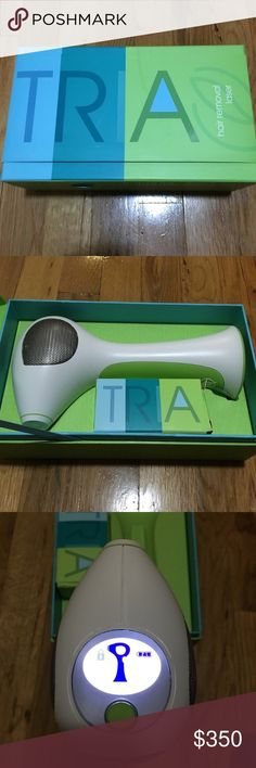 Tria Laser hair removal system Used maybe 10 times. I wasn't consistent which you need to be if you want results. Retail $500. Works fine bought years ago. Comes with booklet and charger. Tria Makeup Brushes & Tools