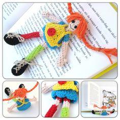 H E L E N A * H A A K T: Pippi Langkous haken, crochet Pippi Longstocking! Crochet Gifts, Cute Crochet, Crochet For Kids, Crochet Baby, Knitted Dolls, Crochet Dolls, Crochet Bookmarks, Crochet Patterns Amigurumi, Crochet Designs