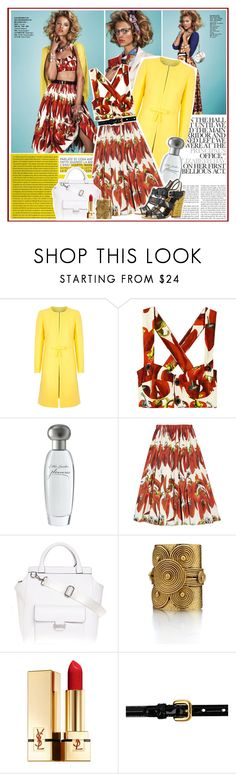 """Hanna Wahmer by Naomi Yang for Vogue Taiwan July 2012"" by oriya ❤ liked on Polyvore featuring moda, RED Valentino, Dolce&Gabbana, Estée Lauder, Armani Exchange, Theodora & Callum, Yves Saint Laurent y Prada"