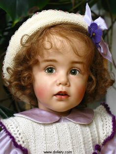 so real looking...darling doll...Sissel Bjorstad Skille Collectible Dolls