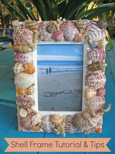 Shell Frame Tutorial & Tips {Handmade Gift}...perfect for those summer shells you've collected! EverythingEtsy.com