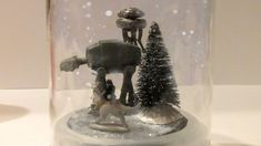 DIY Hoth Snowglobe - making this for my husband's Christmas present!