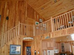 Here is an open loft where you can look down into the great room. Natural woods were used throughout most of the home. I trust you like our boards and continued pictures. - I would like you to know our commitment to our clients isn't only during the construction period. We support their needs well after the sale too. An example of this is our Facebook page, (facebook.com/NorthTwinBuilders) Feel free to check it out for useful tips, tricks & maintenance reminders.