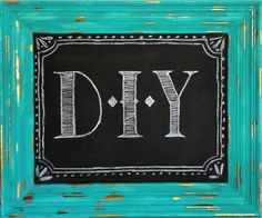 How To Refinish An Old Picture Frame And Turn It Into A Fun Chalkboard