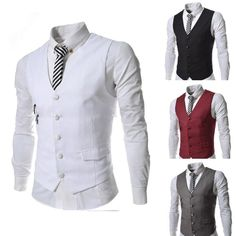 Fashion New Style Formal Men'S Waistcoat Groom Tuxedos Wear Bridegroom Vests…