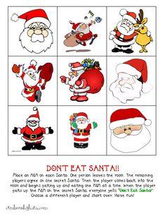 Christmas Game–Don't Eat Santa! {Free Printable}: Creations by Kara
