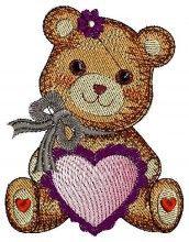 My Valentine Bear free baby free machine embroidery downloads